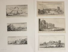 6 Radierungen - Israël SILVESTRE (1621 Nancy - 1691 Paris) 1.Rocher de Gayette lequel se fendit en
