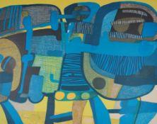 """Farblithographie - Maurice Estéve (1904 Culan - 2001) """"Les deux larrons, 1969"""", r.u."""