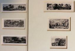 """Sechs Radierungen - Johann Joseph HARTMANN (1753 Mannheim -1830 Cotterd Schweiz) """"Landschaften"""","""