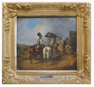 """Gemälde - Edmund Friedrich RABE (1815 Berlin 1902) """"Königl. Preussische Cuirassiere in Begegnung mit"""