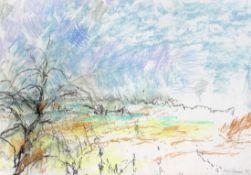 """Pastell - Kurt von Unruh (1894 Hannover - 1986 Roding) """"Landschaft bei Roding"""", r.u. signiert, auf"""