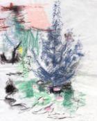 """Pastell - Kurt von Unruh (1894 Hannover - 1986 Roding) """"Im Garten"""", r.u. signiert, auf Papier,"""