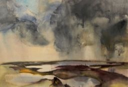 "Großes Aquarell - Willi Ulfig (1910 Breslau - 1983 Regensburg) ""Seenplatte"", r.u. signiert,"