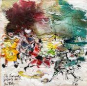 "Aquarell - Otto Sammer (1914 Schwabach - 2004 Passau) ""Clowns"", r.u. monogrammiert, datiert (19)"