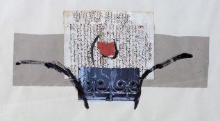 """Collage - Walter Zacharias (Regensburg 1919 - 2000) """"Ohne Titel"""", l.u. signiert und datiert 12.3."""