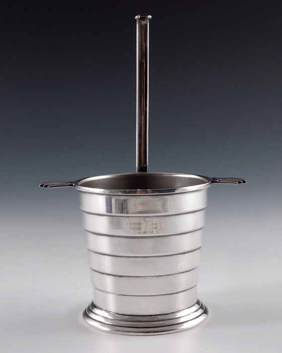 Lot 165 - Keith Murray for Mappin and Webb, an Art Deco silver plated sugar pot