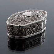 An Indian white metal box