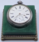 J.W.Benson of London, a Victorian silver pocket watch, roman numerals and subsidiary dial,