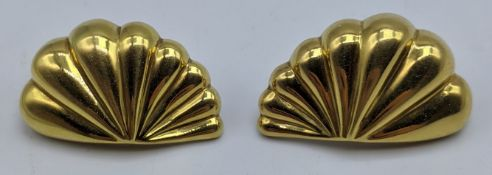 A pair of Italian 18ct gold earrings