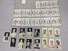 Franklyn Davey & Co. Bristol, Boxing, set of 25, together with Ogdens Pugilists & Wrestlers, 8