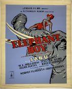 A vintage film poster, London Films Present an Alexander Korda Production Elephant Boy