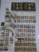 A large collection of travel cigarette cards sets and loose, various makers