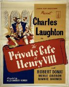 A vintage film poster, London Film Productions present Charles Laughton in The Private Life of