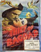 A vintage film poster, London Films Presents Alexander KordaThe Thief of Bagdad with