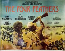 A vintage film poster, London Films Present An Alexander Korda Production The Four Feathers,