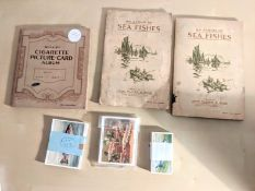A collection of fish cigarette cards: John Player & Sons, Fresh Water Fishes, a series of 25,
