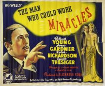 A vintage film poster,British Lion Film Poster H.G. Wells The Man Who Could Work