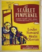 A vintage film poster, A London Films Production The Scarlet Pimpernel starring Leslie Howard,