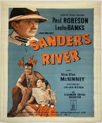 A vintage film poster, Paul Robeson & Leslie Banks in Sanders of the River, 1935 No.