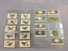 Harvy & Davys, Birds and Eggs, 10 cards, together with other Ogdens Birds Eggs loose