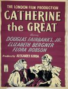 A vintage film poster, The London Film Production Catherine The Great starring Douglas