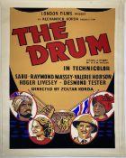A vintage film poster, London Films Present an Alexander Korda production The Drum, 1938