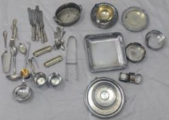 A large collection of continental silver plate, various maker stamps