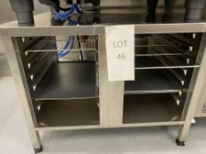 Rational UG 2/61/101 Stand for 101 Ovens with 14 Gastronorm Runners, Serial No. 60.30.3.328, Max
