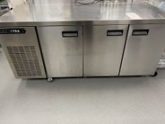 Foster Xtra XR3H Stainless Steel 3 Door Counter Refrigerator - Dimensions - H 855 x W - 1775 x D -