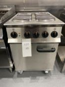 Lincat Opus OE8010, 800 4 Zone Electric Oven Range, Capacity 3 x 1/1GN, Dimensions, H- 925mm x W -