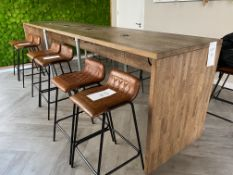 Oak Coffee Bar with 4 Multi-Functioning Plugs (USB, 3 Pin, Cat 6 Cable) - Size H- 1430mm x L - 4,