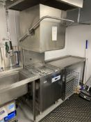 Classeq P500AWS Hood Passthrough Dishwasher, Serial No. 40056143 with Grease Shield GS1000 AST