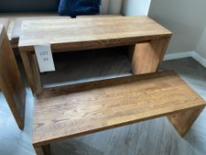 Oak Table and Bench Size - Bench H- 440mm x L - 1200, W - 450mm, Table H - 750mm, L - 1200mm, W -