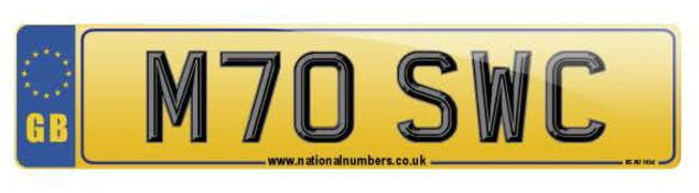 Cherished Number Plate - M70 SWC