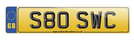 Cherished Number Plate - S80 SWC