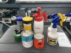 Assorted Spray Guns & Oil Cans