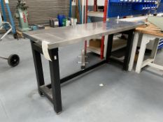 Stainless Steel Table Size - 1.83m X 0.63m x 0.96m