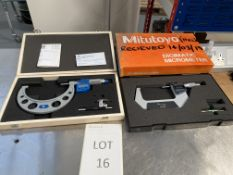 """2: Mitutoyo Micrometers Moore & Wright 100-125m Digital Micrometer Mitutoyo 3""""-4"""" Digital Micrometer"""