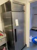 Valera Model SUR1, Single Door Stainless Steel Upright Refrigerator, Serial No. 11E04005