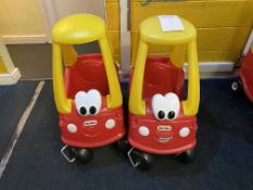 2x Little Tikes Bus Carts (no steering wheels)