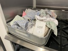 3x Stainless Steel Trays with tea towels