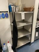 Stainless Steel 4 Shelf Storage Unit (does not include items)
