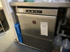 Sammic Pro Stainless Steel, Front Loading Dishwasher with 6 plastic trays and grease trap - Will