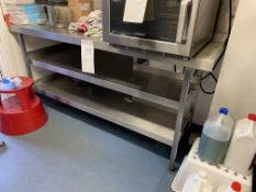 2: Stainless Steel 2 Shelf Table's (does not include items)