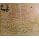 Historische Niederbayern-KarteAltkolorierter Kupferstich/Papier. Karte von Johann Baptist Homann aus