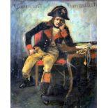 Lieutnant BonaparteÖl/Leinwand. Darstellung des an einem Tisch sitzenden Napoleon Bonaparte in