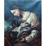 Heilige Maria MagdalenaÖl/Leinwand. Darstellung der Begleiterin von Jesu nach der Bekehrung mit