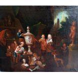 Umkreis Jan Josef Horemans der Ältere, 1682 Antwerpen – 1759 Antwerpen Öl/Leinwand. Im Atelier des