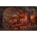 Dantes InfernoÖl/Papier. Dantes Infernos. Darstellung des ersten Teils der Göttlichen Komödie von