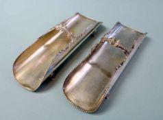 Silberne Serviettenhalter